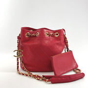 Shoulder Bag Vicolole Chain Vintage Razor Red 0s Made In Italy