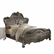90 X 93 X 76 Antique Platinum Wood Poly Resin Eastern King Bed