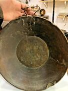 Antique Primitive Chines Large Heavy Old Tibetan Hard Wood Bowl Wall Hanging