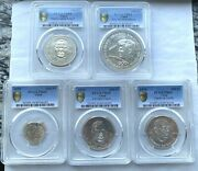 Chad 1970 Independence Pcgs Set Of 5 Silver Coins,rare,mtg Only 435 Sets