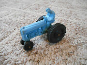 Old Vintage Toy Auburn Rubber Usa Tractor Truck Farm Vehicle W/ Driver Blue 4
