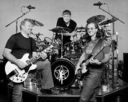 Rush Band Geddy Lee / Alex Lifeson / Neil Peart 8x10 Black And White Photo