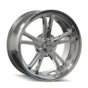 Cpp Ridler 606 Wheels 18x8 + 18x9.5 Fits Ford Mustang Falcon Galaxie