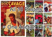 Doc Savage 1933 1 - 10 = All 10 Posters 1 Free 3 Sizes 17 - 18 - 19