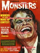 Famous Monsters Of Filmland 1962 Werewolf / Dracula = Poster 10 Sizes 17-5 Feet