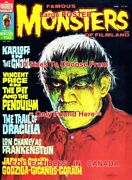 Famous Monsters Of Filmland 1974 Boris Karloff Ghoul =poster 10 Sizes 17 - 5 Ft