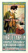Triple Trouble 1918 Charlie Chaplin Match Toe = Poster 3sizes 4 Ft / 6 Ft / 7 Ft
