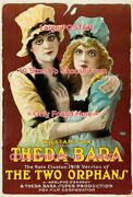 Two Orphans 1918 Theda Bara Jean Sothern Claxton =poster 10 Sizes 18 - 4.5 Feet