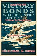Wwi 1918 Victory Bonds Red Cross Nurse Water Rescue = Poster 10 Sizes 17-4.5 Ft