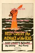 Wwi 1918 Hand With Knife Buy Liberty Bonds Quickly =poster 10 Sizes 18-4.5 Feet