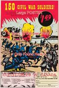 150 Civil War Soldiers 1959 Toy = Poster Comic Book 8 Sizes 18 - 3 Ft