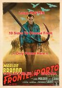 On The Waterfront 1954 Brando Hook Italian = Movie Poster 10 Sizes 17 - 4.5 Ft