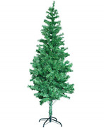 Pvc Artificial Christmas Tree With Multi-color Led Lights And Decorations - 5.9
