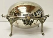 Antique Serving Sheffield Dome Dish Lid Meat Silverplate Old Heavy England Plate