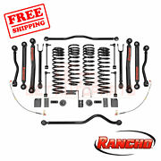Rancho 4 Front And 3.5 Rear Lift Kit Suspension For Jeep Wrangler 4wd 2007-2018