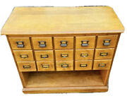 Library Card Catalog From A University