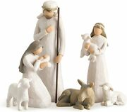 Willow Tree Nativity_sculpted Hand-painted Nativity Figures 6-piece Set 26005