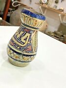 Antique Ancient Islamic Persian Safavid Pottery Glazed Handcrafted Vase