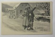 New Year, Men's, Women, Traditional Costume, Home 1900