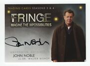 Fringe Season 3 And 4 A3 John Noble As Dr. Walter Bishop Autograph Insert Card