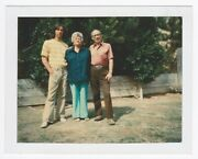 Vintage 70s Polaroid Photo Family Parents W/ Young Adult Son Guy