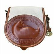 Dooney And Bourke   All Weather Leather 2 Duck Bag Mini Purse   Bone / Brown