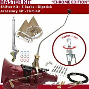 Th200 Shifter Kit 23 Swan E Brake Cable Clamp Clevis Trim Kit Dipstick For Defa7