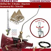 C6 Shifter Kit 23 Swan E Brake Cable Clevis Trim Kit Dipstick For D21ae