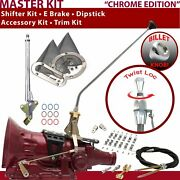 C4 Shifter Kit 23andampquot E Brake Cable Clamp Clevis Trim Kit Dipstick For F83