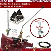 Th350 Shifter Kit 23andampquot E Brake Cable Clevis Trim Kit Dipstick For D1492
