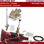 C6 Shifter Kit 6andampquot E Brake Cable Clamp Clevis Trim Kit For C7f7c
