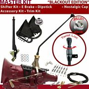 C4 Shifter Kit 16andampquot E Brake Cable Clamp Clevis Trim Kit Dipstick For F83