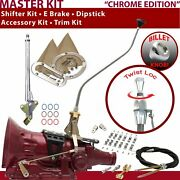 4l60 Shifter Kit 23 Swan E Brake Cable Clamp Clevis Trim Kit Dipstick For F5d37