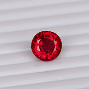 Natural Mozambique Red Ruby 7.00 Ct Pigeon Round Cut Loose Certified Gemstone