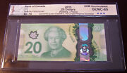 Canada 2015 20 Polymer Note Bc-74 Commemorative Queenand039s Longest Reigning 2367