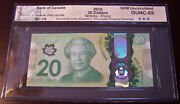 Canada 2015 20 Polymer Note Bc-74 Commemorative Queenand039s Longest Reigning 2372