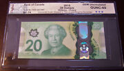 Canada 2015 20 Polymer Note Bc-74 Commemorative Queenand039s Longest Reigning 2377