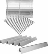 19.5 Cooking Grates With Flavorizer Bars For Weber Genesis 300 Weber 7524, 7528