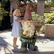 Hi Ho Off To Work We Go - Child Sized Grand Scale Giant Dwarf Garden Gnome