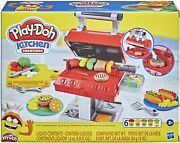 New Play-doh Kitchen Creations Grill 'n Stamp Playset 6 Non-toxic Compounds