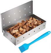 Cosumina Stainless Steel Bbq Smoker Box For Grilling Barbecue Wood Chips On Gas