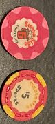 Casino Chips Sierra Sidand039s 5 And Plantation 5 Sparks Nv Pair