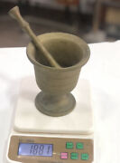 Antique Unique Heavy Brass Mortar And Pestle Handmade Handcrafted Middle East