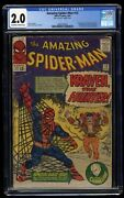 Amazing Spider-man 15 Cgc Gd 2.0 Off White To White 1st Kraven The Hunter
