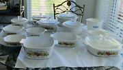 Vintage Corningware. Different Patterns. Selling As A Mixed Set.