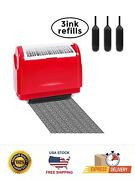 Identity Theft Protection Roller Stamp Guard Your Id Privacy Data-3 Refill Ink