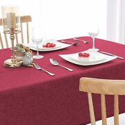Pack Of 1red Color Washable Jute Table Cover Heat Resistant50 X 60 Inches