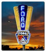 Pasttime Signs Ford Marquee Sunset Neon Steel Garage Sign 14 X 16 Lgb662