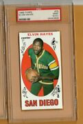 1969 Topps 75 Elvin Hayes Rookie Rc Psa 9 Oc Mint Houston Cougars And Rockets