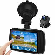 Z-edge Dual Dash Cam 4.0 Touch Screen Front And Rear Dash Cam Fhd 1080p With Ni